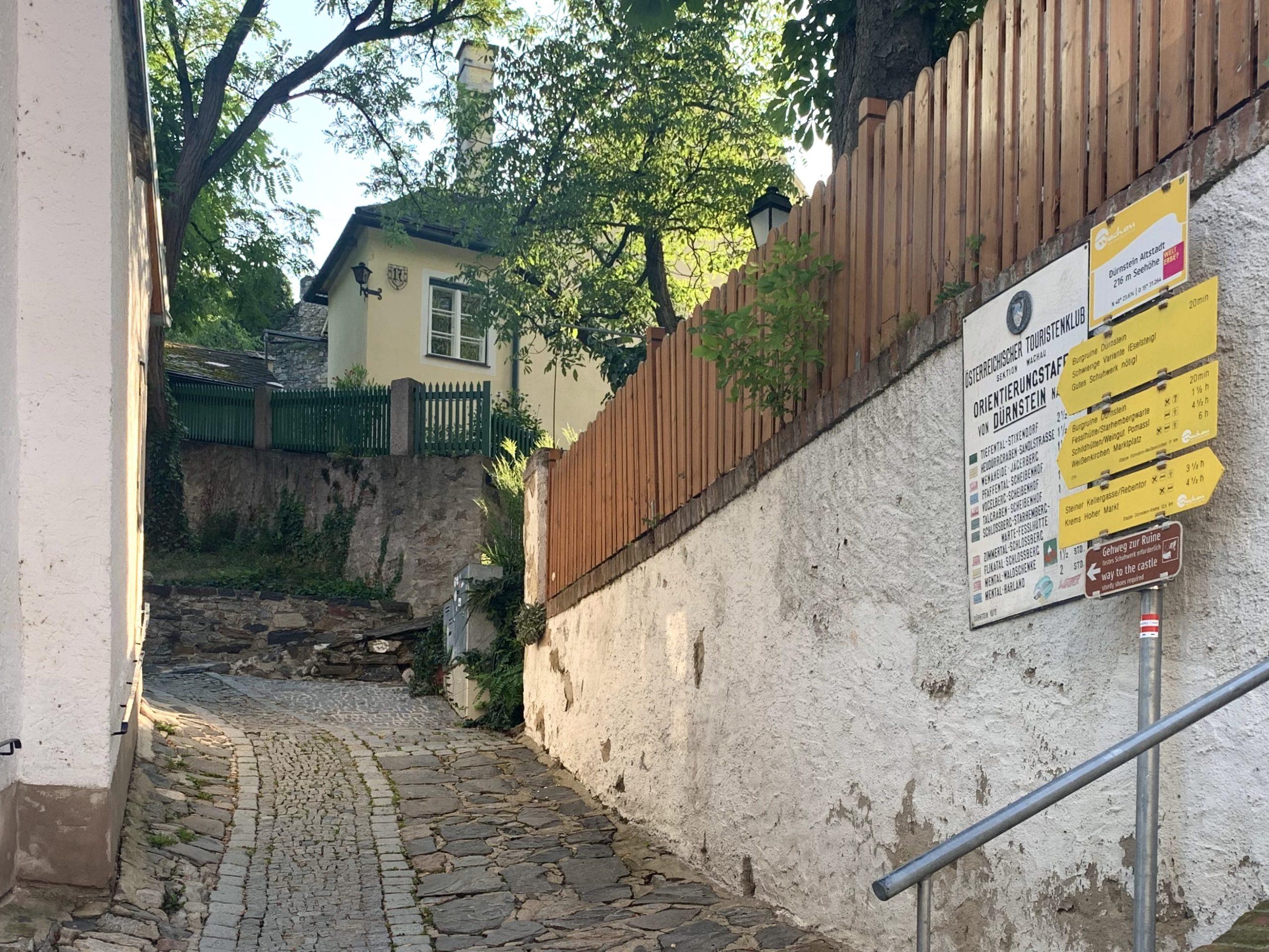 Gehweg zur Ruine Dürnstein