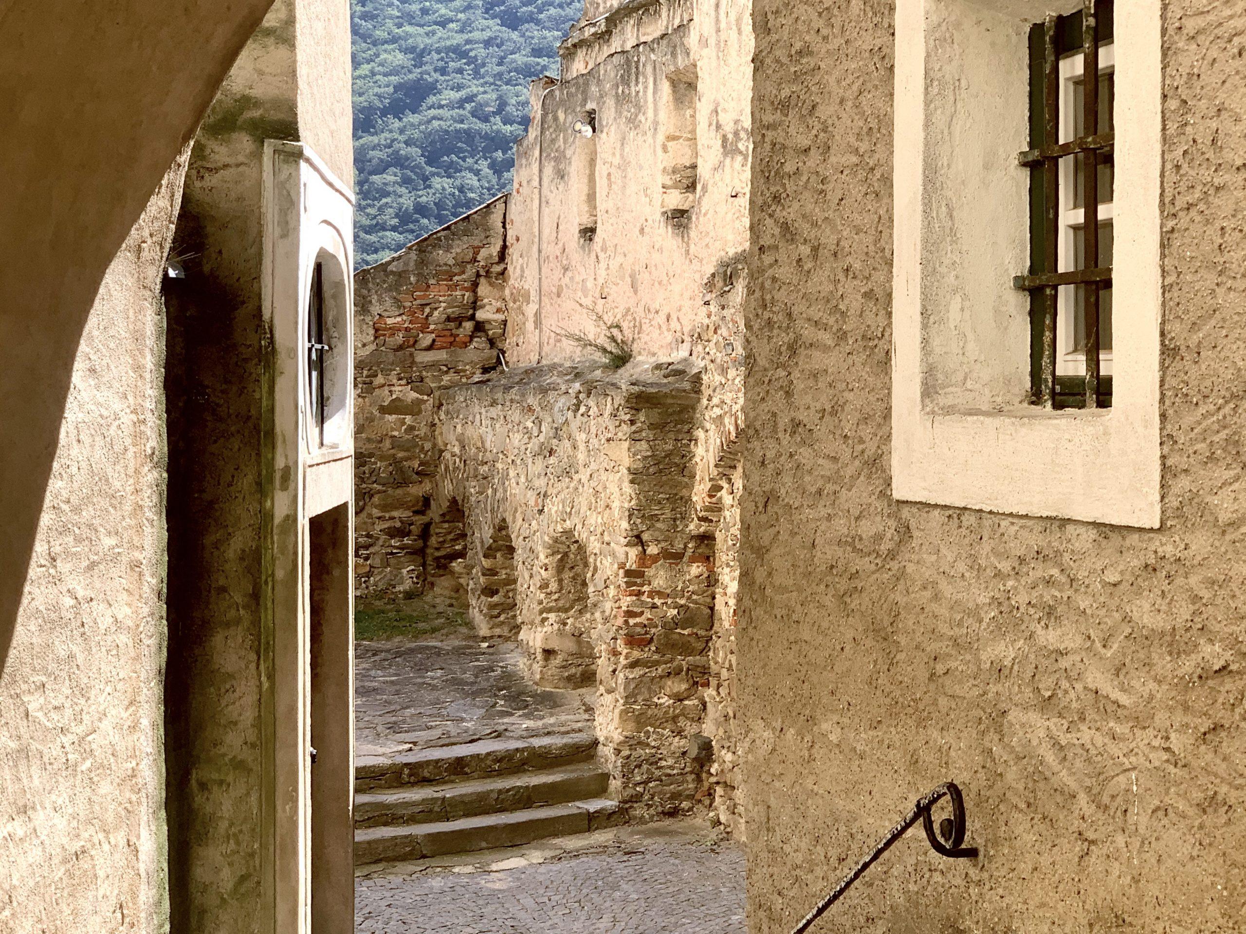 Die Festungsmauern im Bereich der Pfarrkirche Weißenkirchen