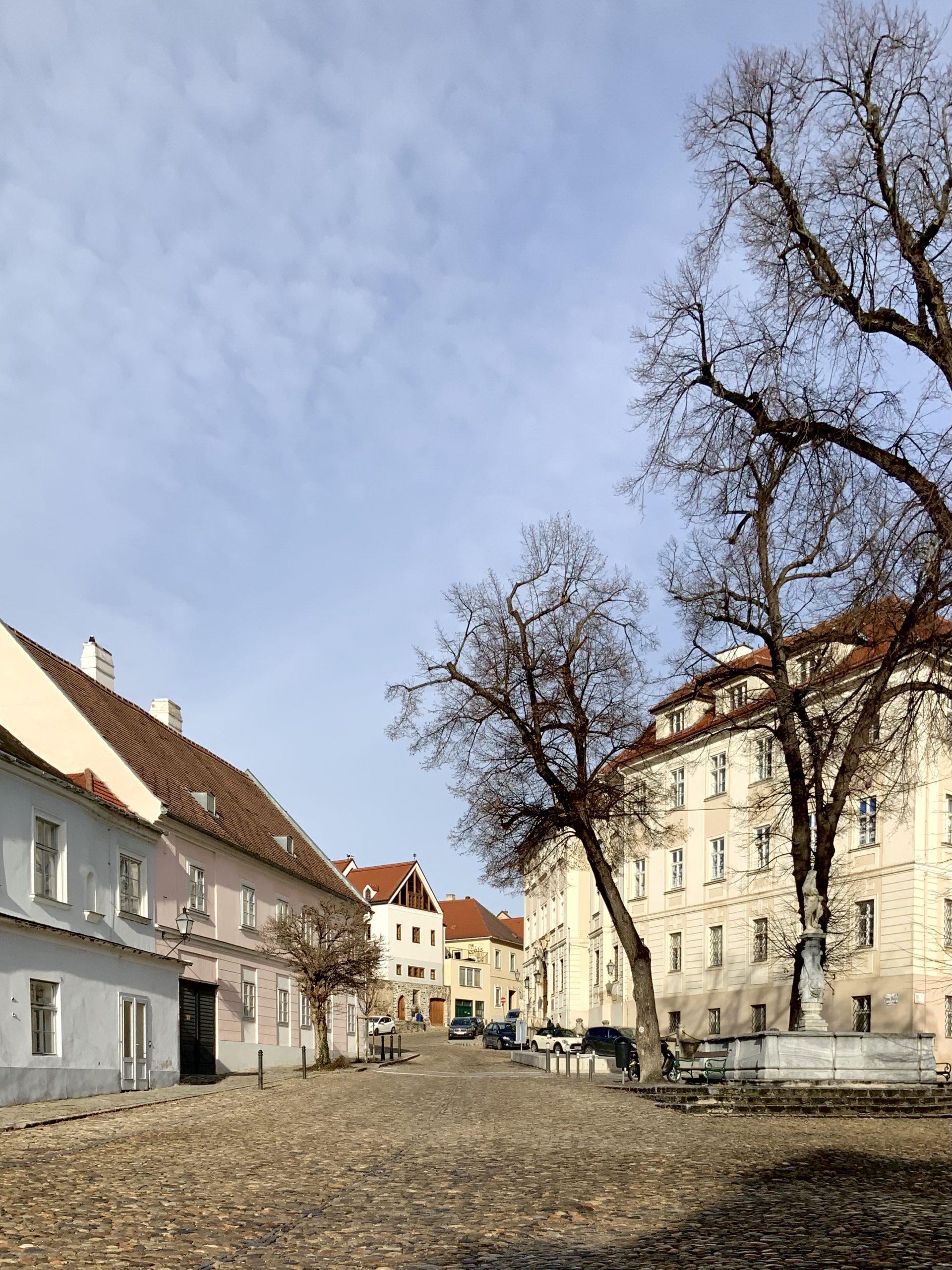 der hohe Markt mit Krems an der Donau