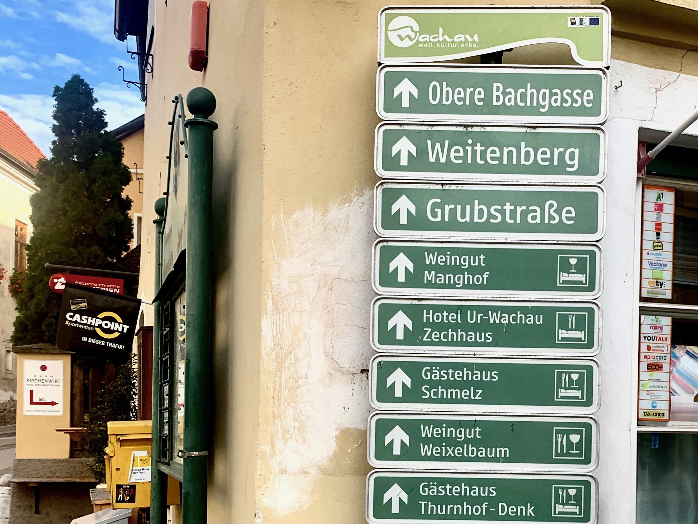 Ecke Marktplatz Untere Bachgasse in Weißenkirchen in der Wachau