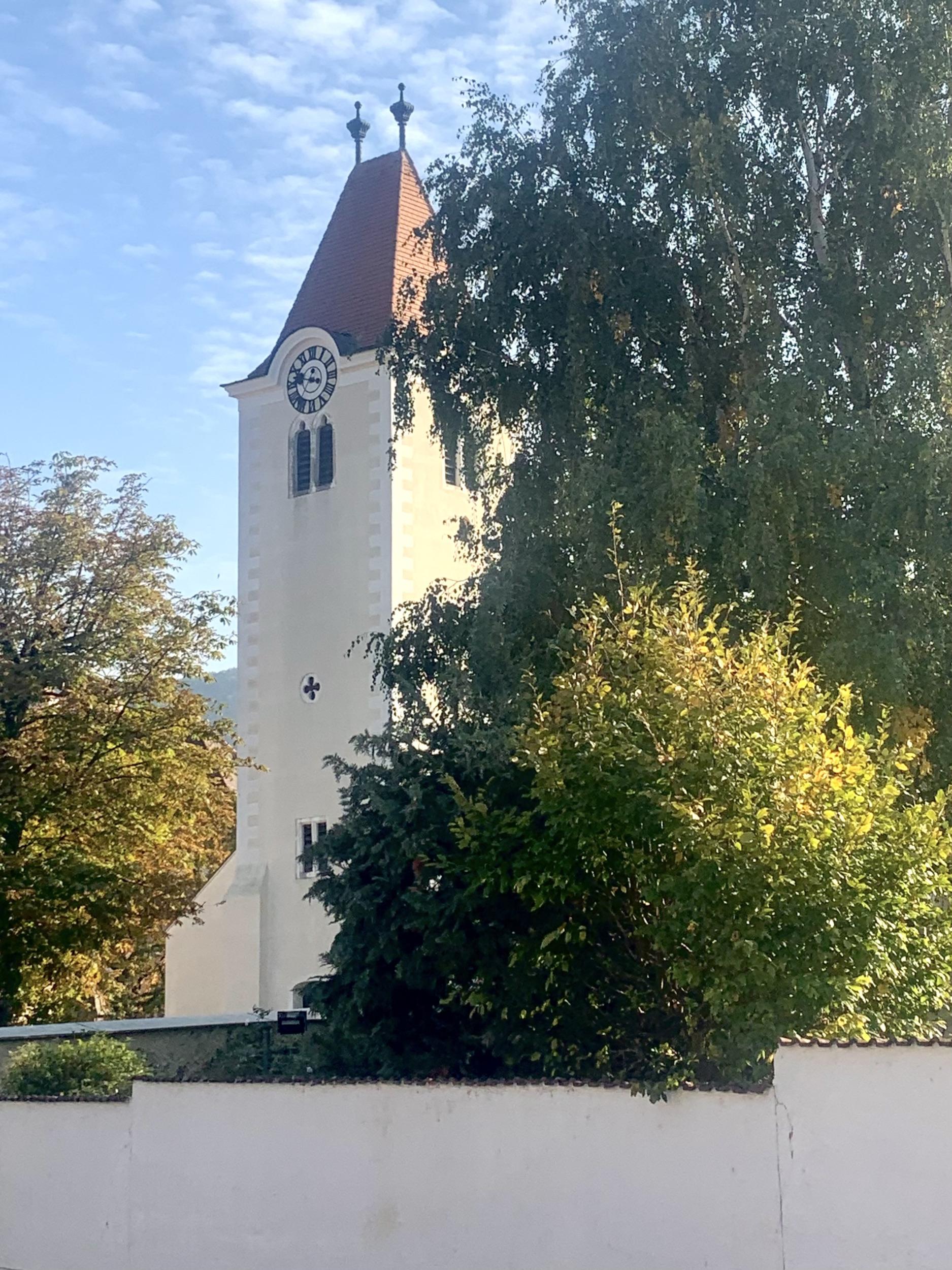 die pfarrkirche von Rossatz in der Wachau
